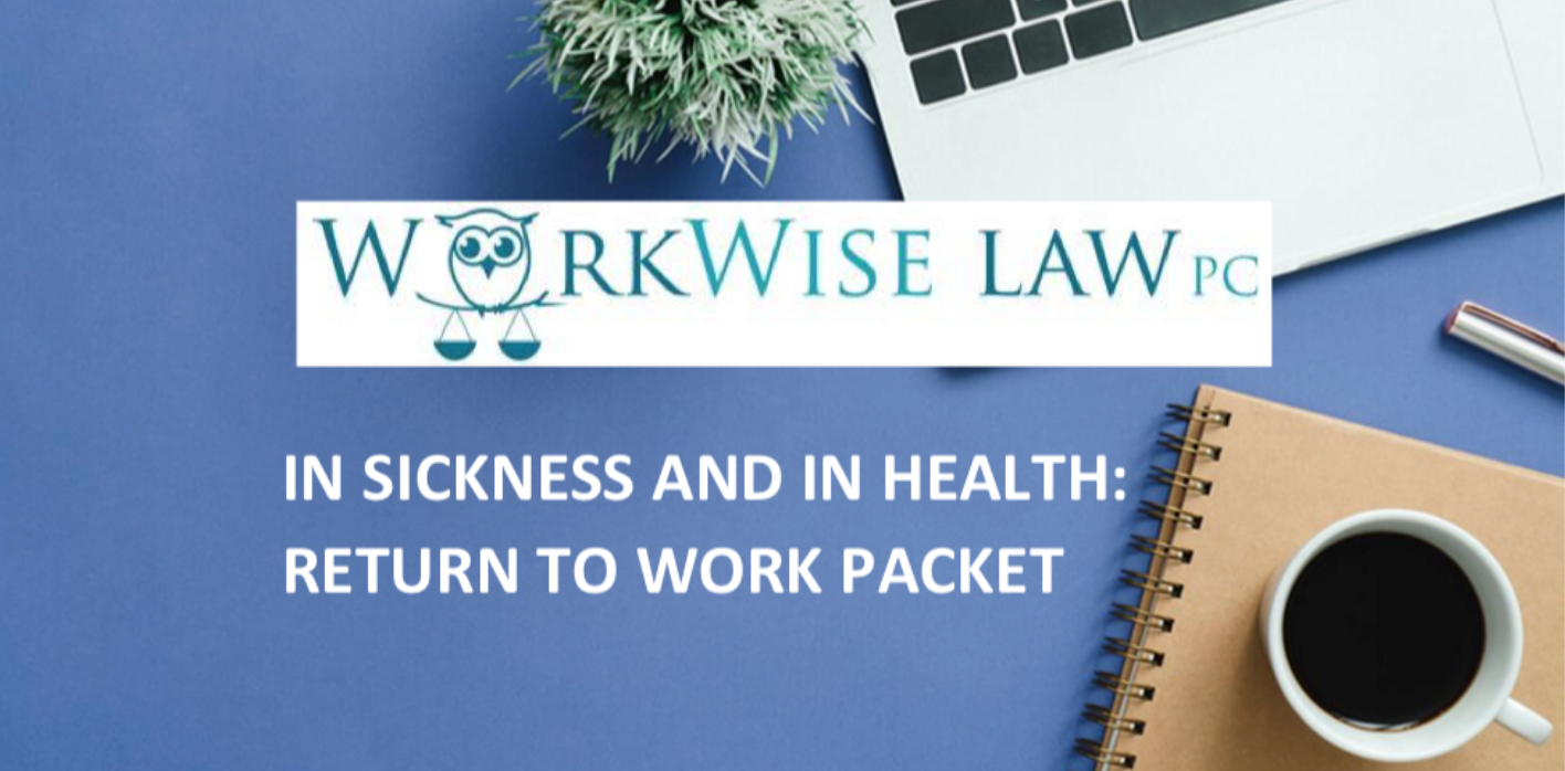 In Sickness and in Health: Return to Work Packet