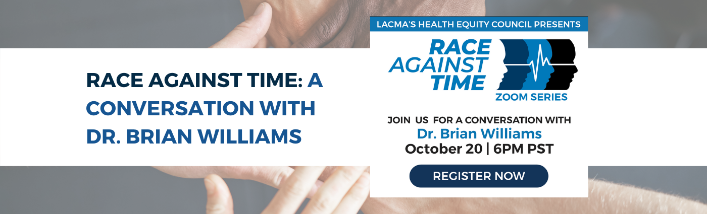 Race Against Time: A Conversation with Dr. Brian Williams on October 20th